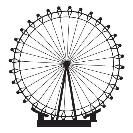 London Eye Drawing Sketch Coloring Page