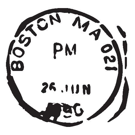 Boston Ma Postmark Wall Art Decal