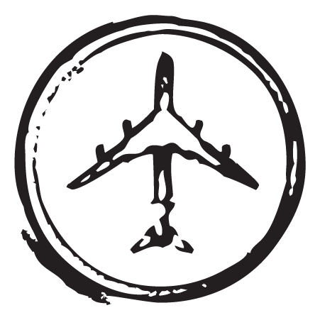 Airplane Circle Stamp Postmark Wall Quotes Wall Art Decal