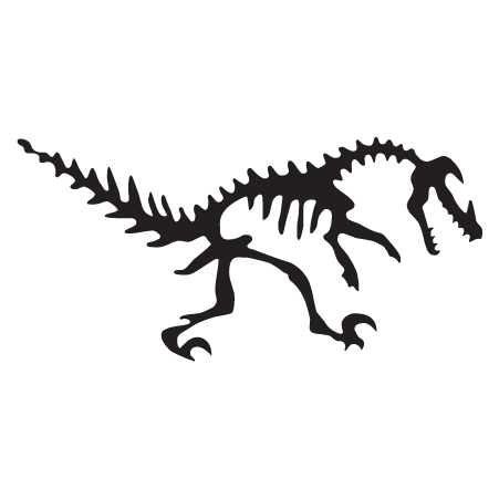 Velociraptor Dinosaur Fossil Wall Quotes Wall Art Decal