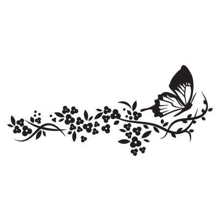 Elegant Floral 20 Wall Quotes Wall Art Decal