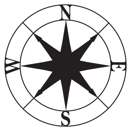 Navigational Compass Wall Quotes Wall Art Decal