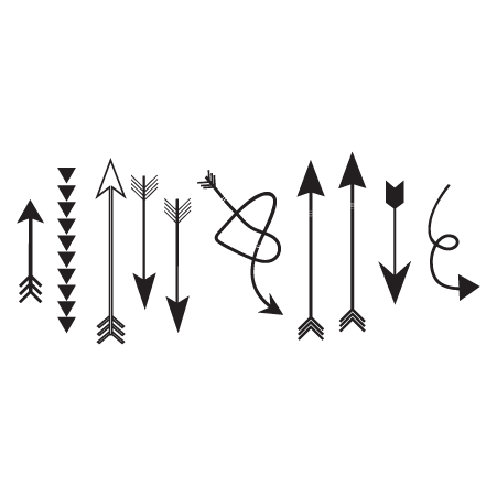 Whimsical Arrows Wall QuotesTM Wall Art Decal
