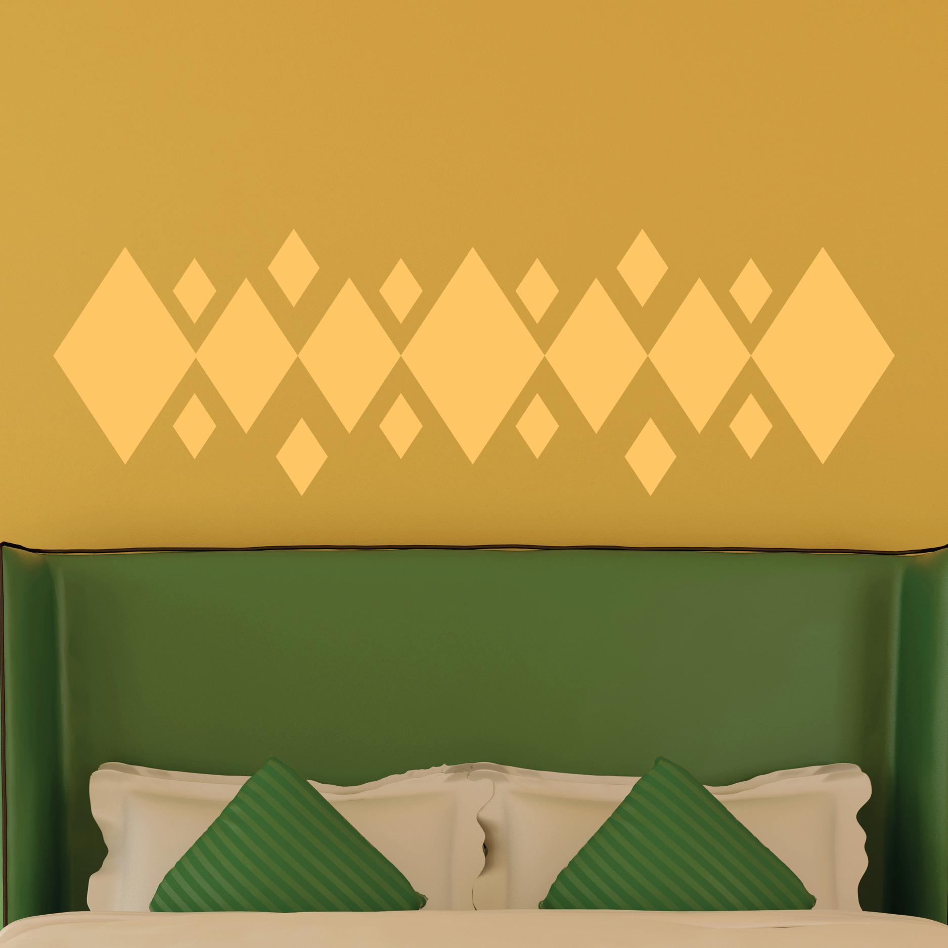 Diamond Headboard Wall Quotes Wall Art Decal