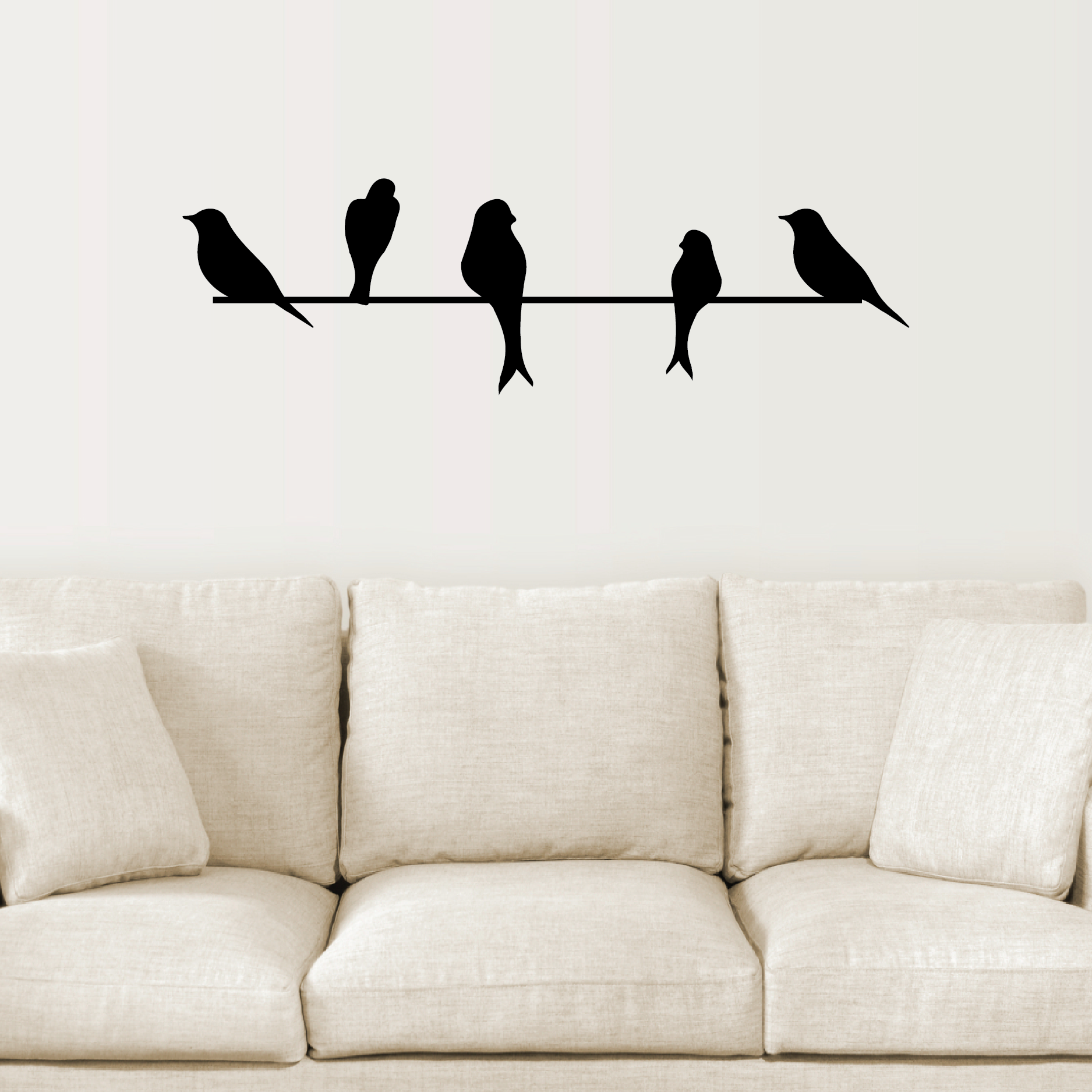 Wire Wall Art birds on a wire wall quotes™ wall art decal | wallquotes