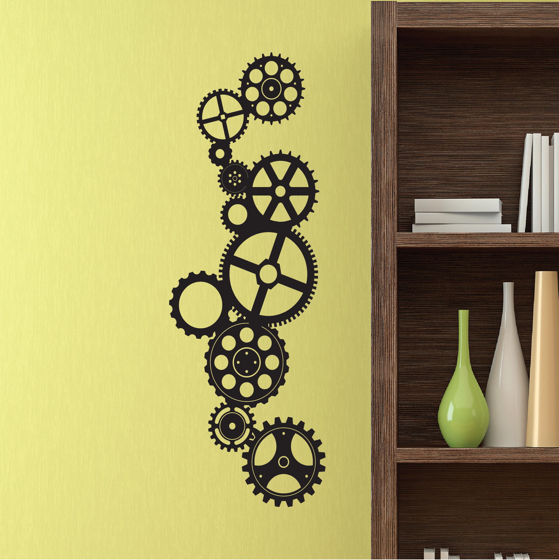 Decorative Gears Wall Quotes™ Decal | WallQuotes.com