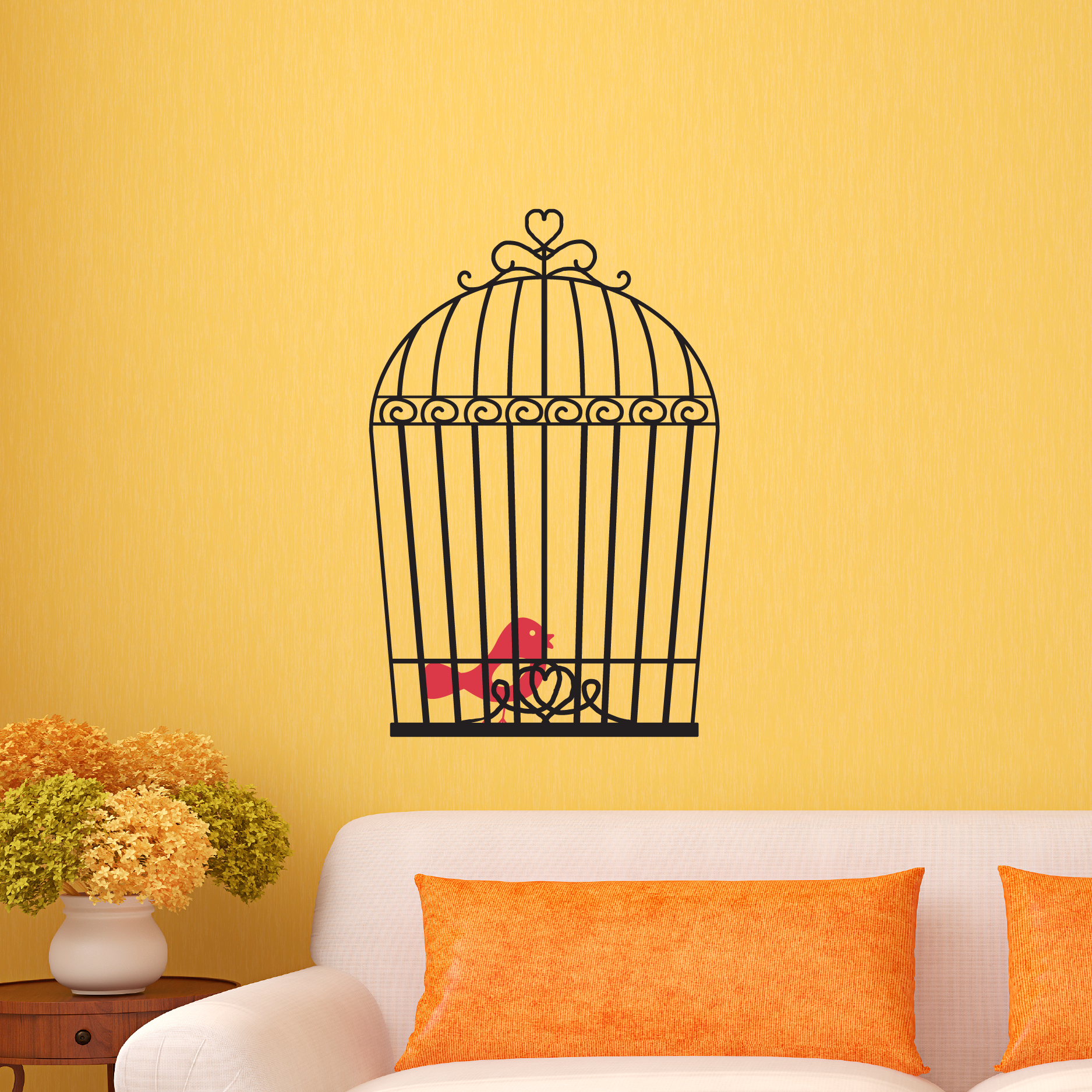 Vintage Bird Cage Wall Quotes™ Wall Art Decal | WallQuotes.com