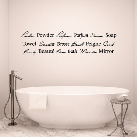 Bath Quotes Inspiration French Bath Wall Quotes™ Decal  Wallquotes