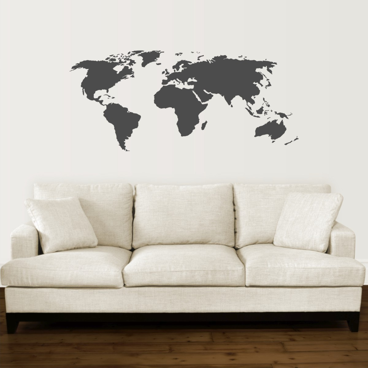 World map wall quotes wall art decal wallquotes world map wall quotes wall art decal gumiabroncs Choice Image