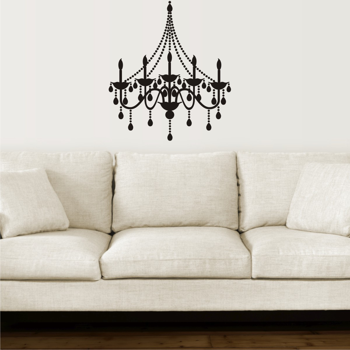 Elegant Chandelier Entryway Dining Living Room Wall Art Decal