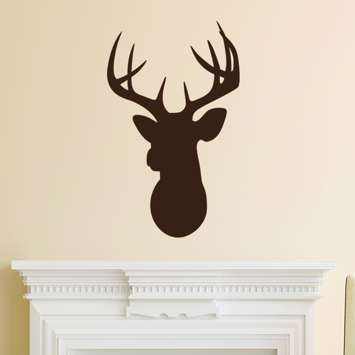 Wall Art Of Deer : Deer head silhouette wall quotes art decal