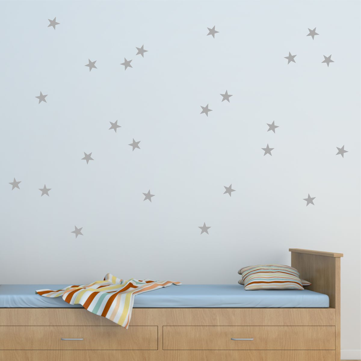 stars silver nursery bedroom wall art decal & Stars Wall Quotes™ Wall Art Decal | WallQuotes.com