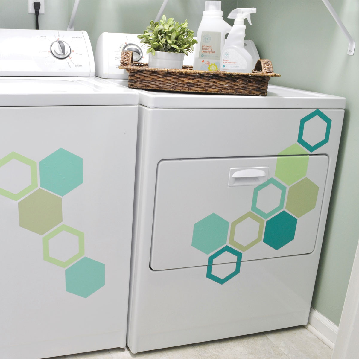Hexagons wall quotes wall art decal kit wallquotes see it with your wall color amipublicfo Choice Image