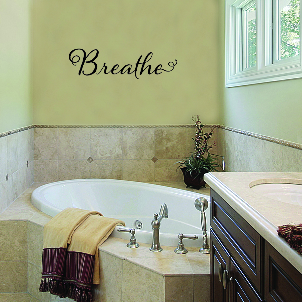 Breathe Spa Wall Quotes Decal Wallquotes Com