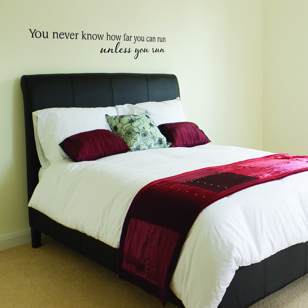 Unless You Run Wall Quotes Decal WallQuotescom - Wall decals above bed