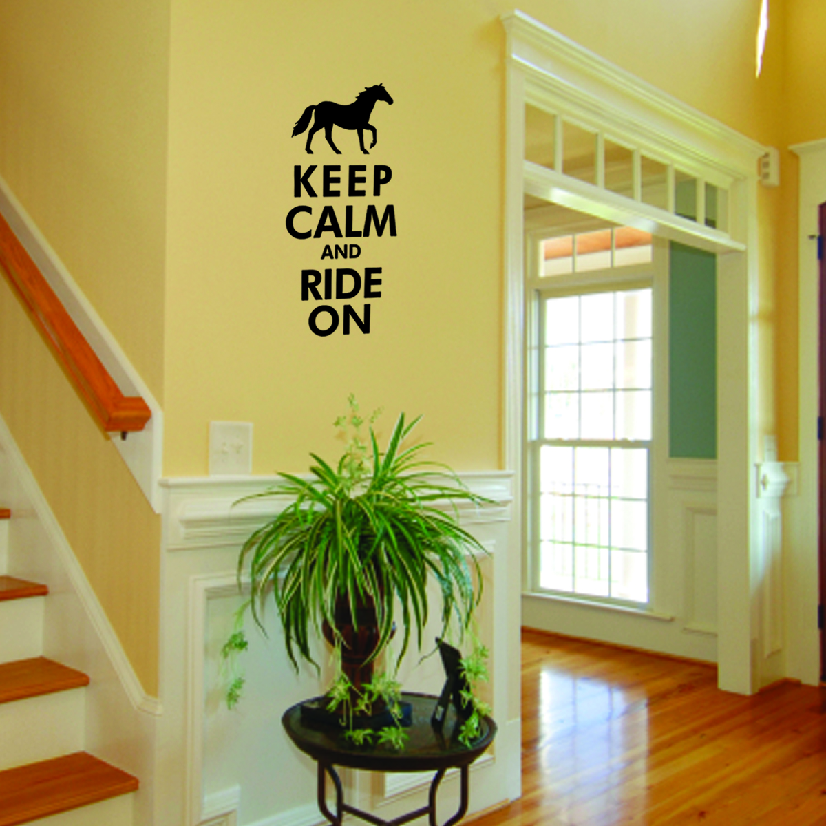 Keep Calm Ride On Wall Quotes™ Decal | WallQuotes.com