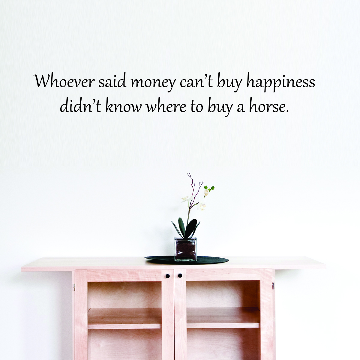Money cant buy happiness wall quotes decal wallquotes hallway above desk living room entry way wall decal amipublicfo Image collections
