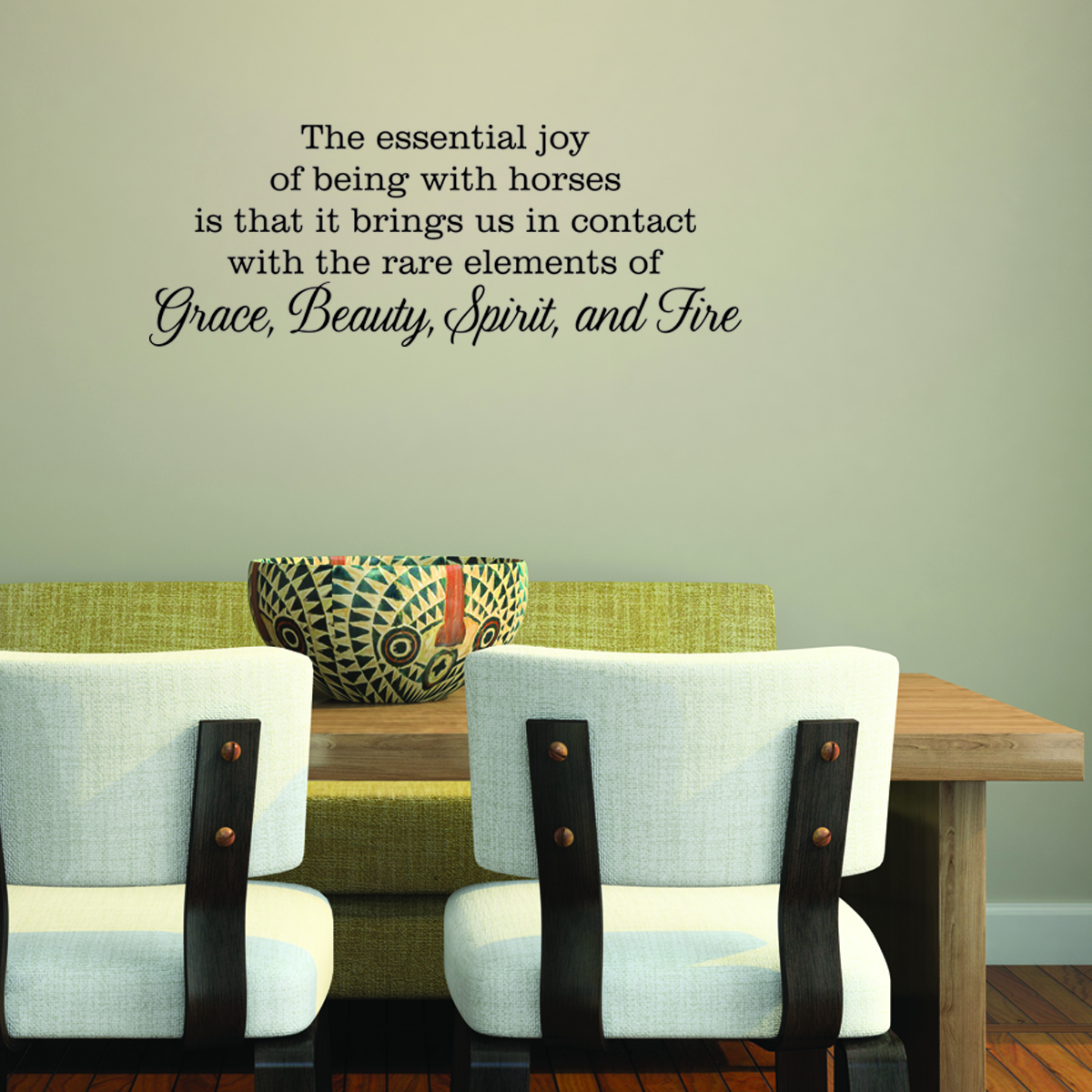 Grace, Beauty, Spirit, and Fire Wall Quotes™ Decal
