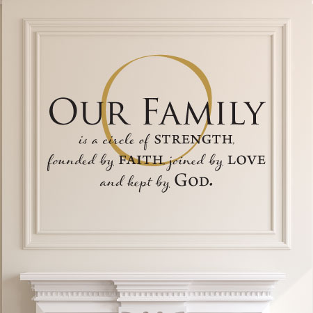 our family is kept by god wall quotes decal com