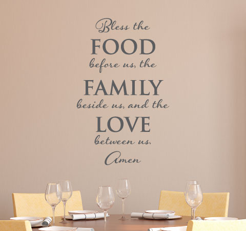 Sale Bless Food Family Love Amen Wall Quotes Decal Slate Wallquotes Com