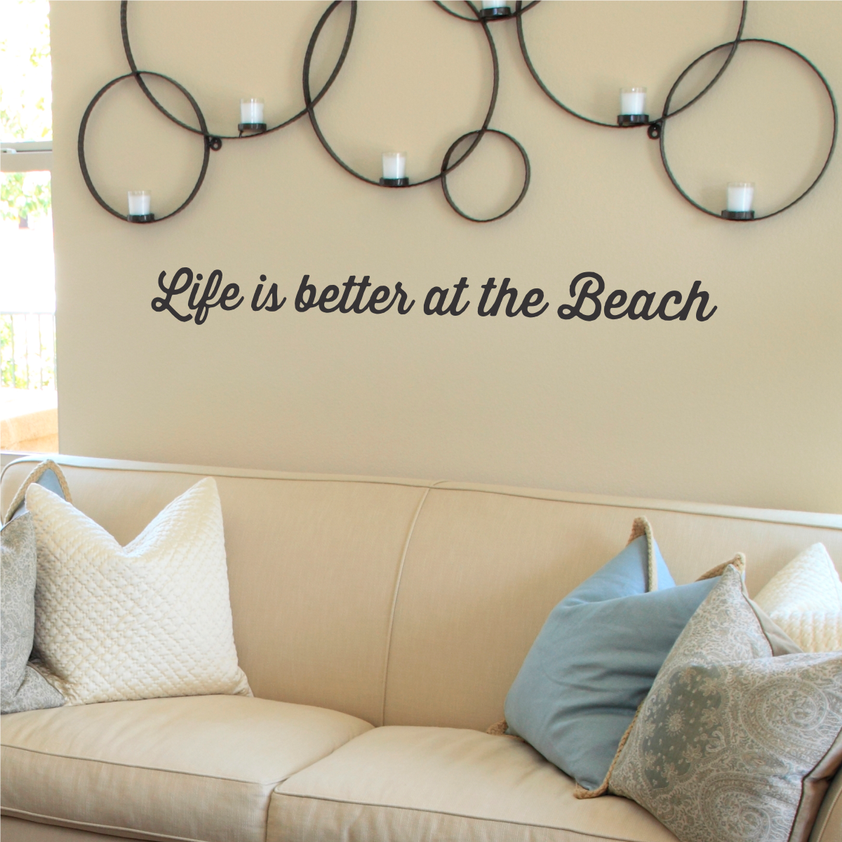 Retro Better At The Beach Wall Quotes™ Decal