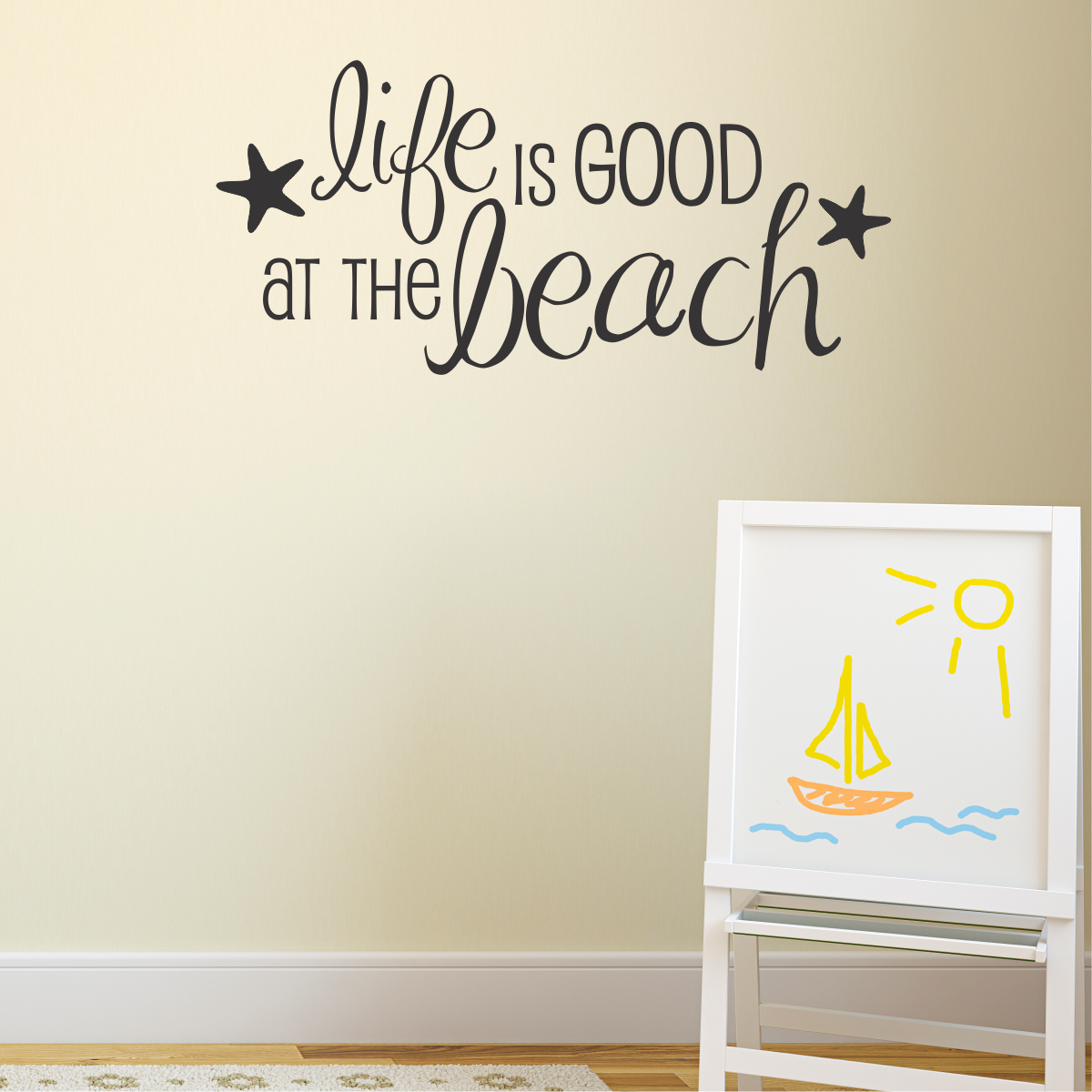 Life Is Good At The Beach Wall Quotes Decal WallQuotescom - Wall decals beach quotes