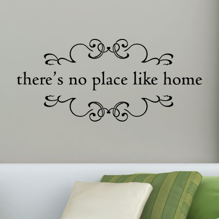 No Place Like Home Wall Quotes Decal WallQuotescom - Wall decals entryway