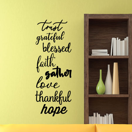 Words For Home Wall Quotes™ Decal | WallQuotes.com
