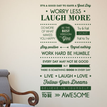 Have A Good Day Subway Wall Quotes Decal Wallquotescom