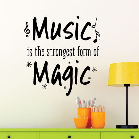 music is magic wall quotes™ decal | wallquotes