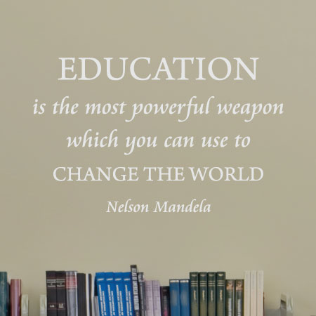 education is a powerful weapon wall quotes decal com