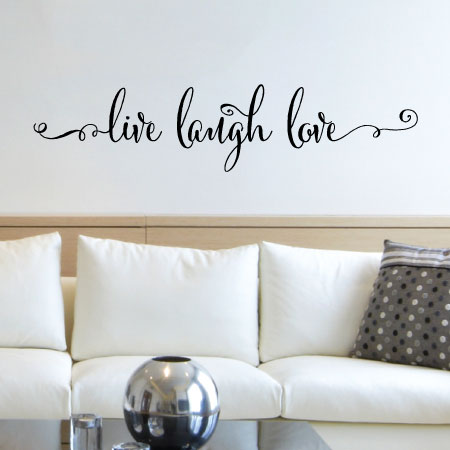 live laugh love script wall quotes™ decal | wallquotes