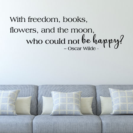 freedom books flowers and the moon wall quotes™ decal   wallquotes