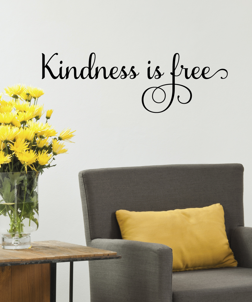 Quotes Kindness Kindness Is Free Wall Quotes™ Decal  Wallquotes