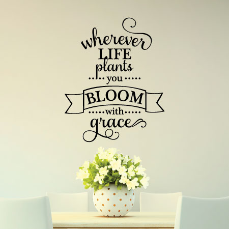 Bloom With Grace Wall Quotes™ Decal | WallQuotes.com