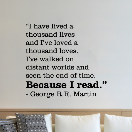 Because I Read Wall Quotes Decal Wallquotescom