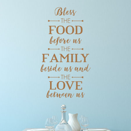 Bless The Food Before Us Family Beside And Love Between Wall Quotes