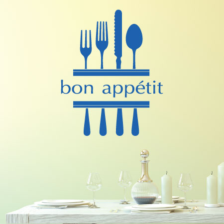 Bon App 233 Tit Amp Modern Utensils Wall Quotes Decal