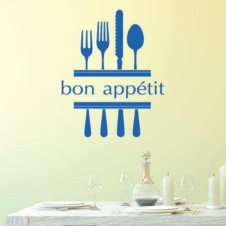 Bon App 233 Tit Amp Modern Utensils Wall Quotes Decal