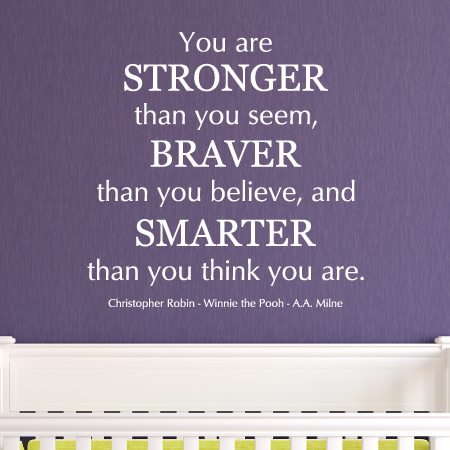 Classic Stronger Braver Smarter Wall Quotes Decal Wallquotescom