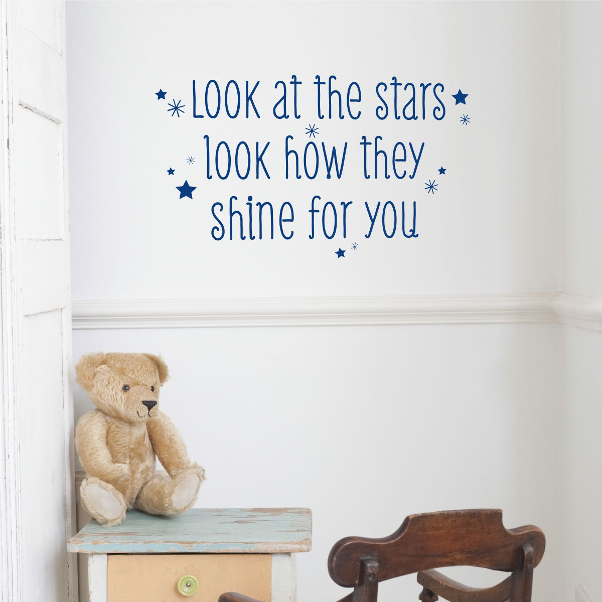 Look At The Stars Wall Quotes Decal Wallquotes