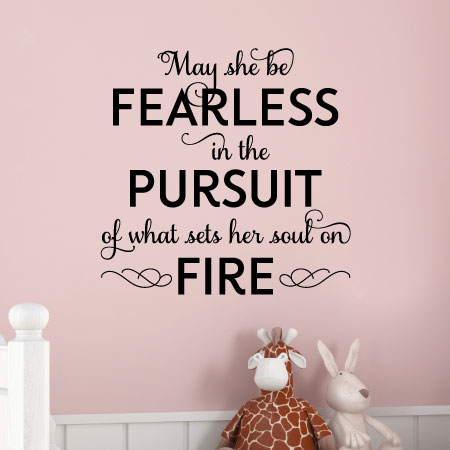 May She Be Fearless Wall Quotes Decal Wallquotescom