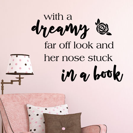 Nose Stuck In A Book Wall Quotes Decal Wallquotescom
