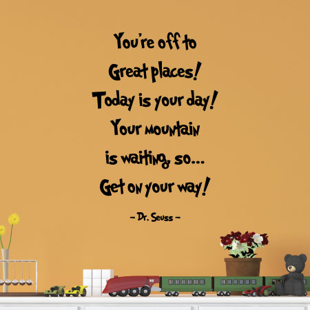 Youre Off To Great Places Wall Quotes Decal Wallquotescom