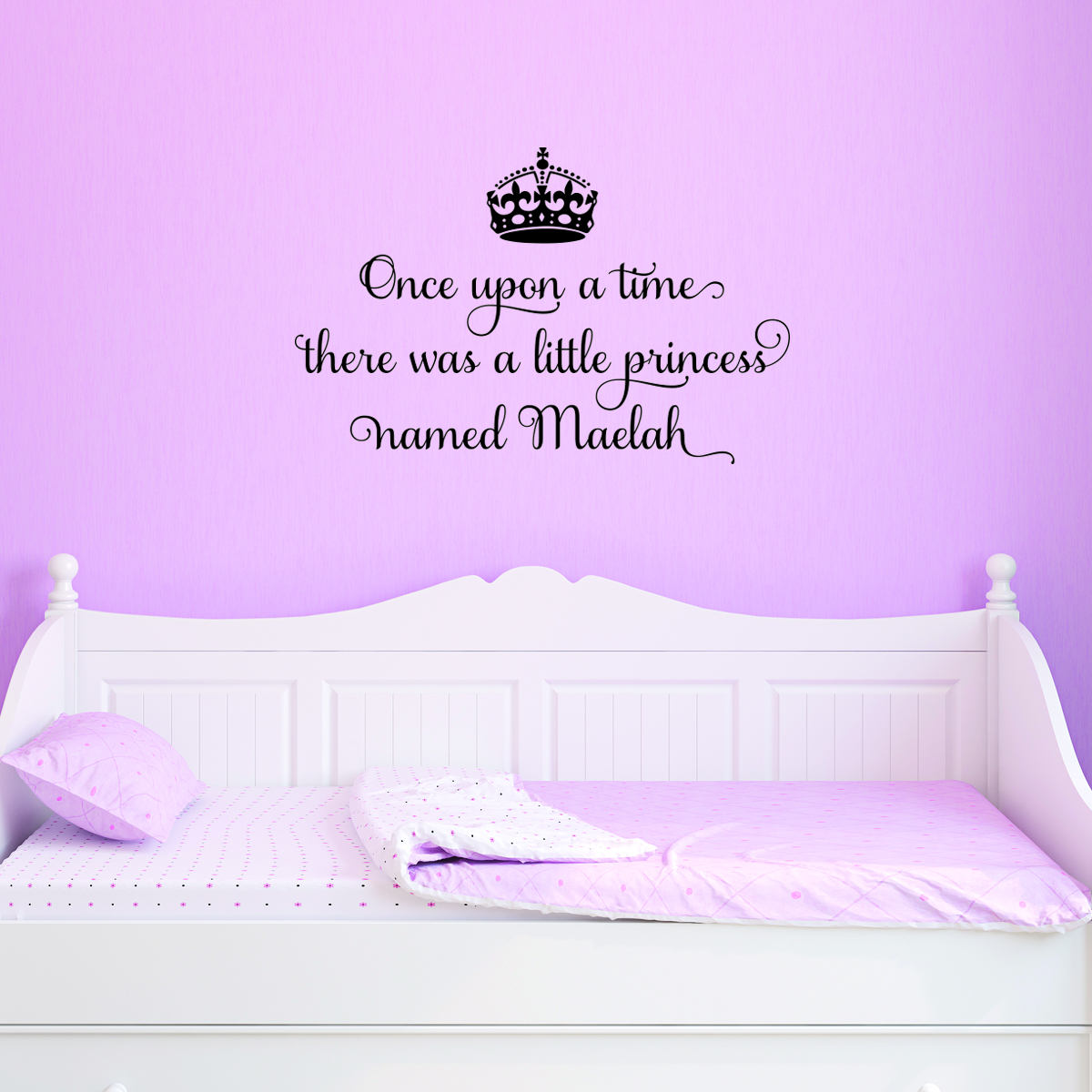Shared Bedroom Ideas For Girls A Little Princess Named Personalized Wall Quotes Decal