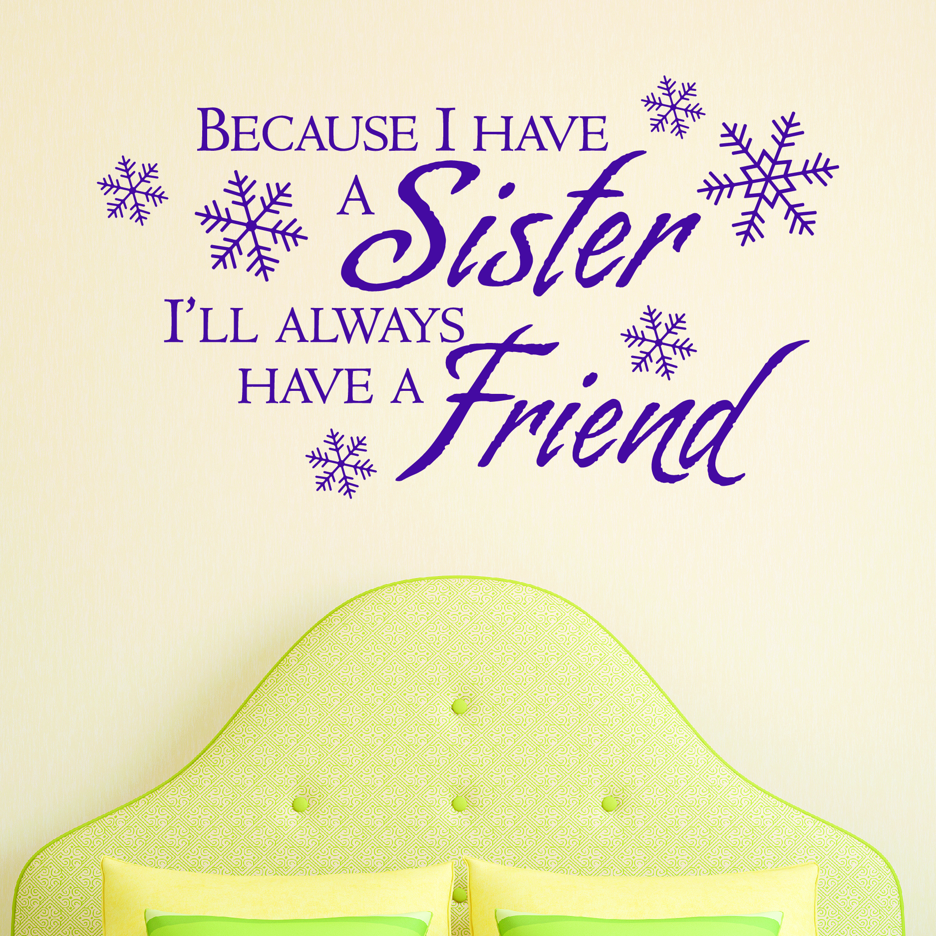 Sister Friend Snowflake Wall Quotes™ Decal | WallQuotes.com