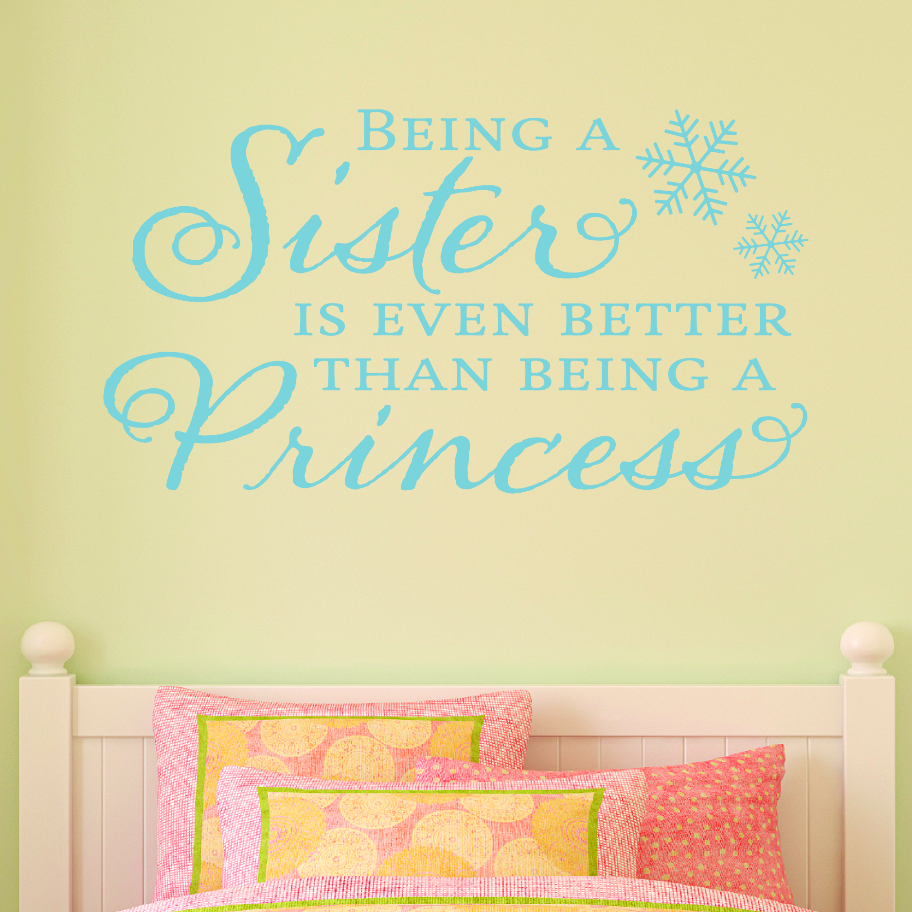 Sister Princess Snowflake Wall Quotes™ Decal