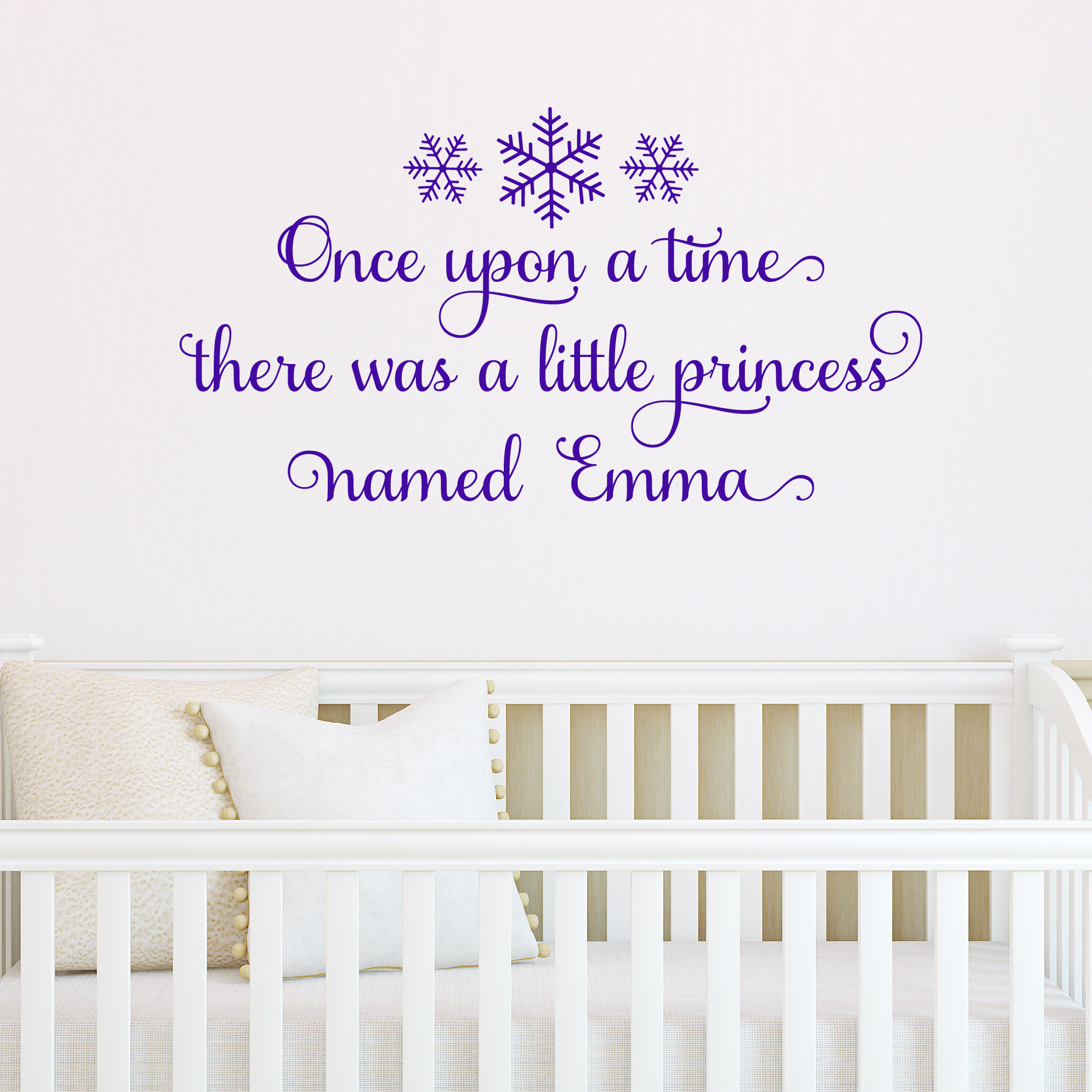 Snowflake Custom Princess Wall Quotes™ Decal
