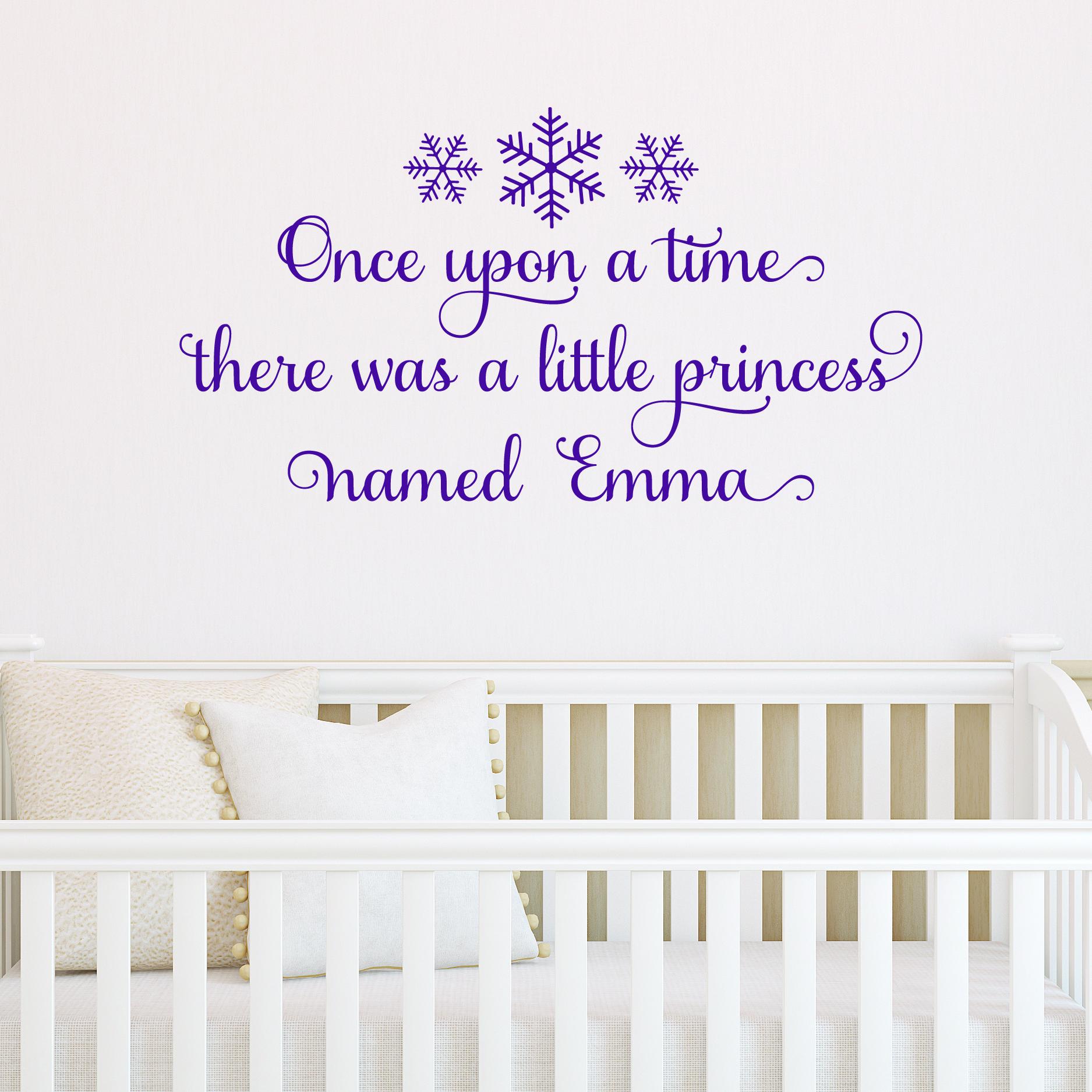Snowflake Custom Princess Wall Quotes Decal Wallquotes Com