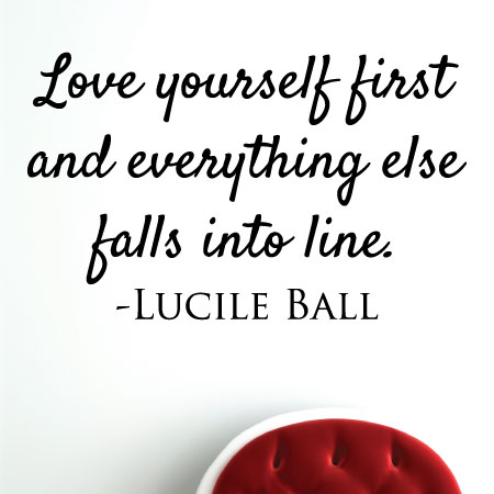 Love Yourself First Wall Quotes Decal Wallquotes Com